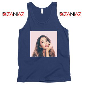 Ariana Grande Posters Navy Blue Tank Top