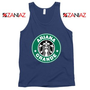 Ariana Grande Singer Navy Blue Tank Top