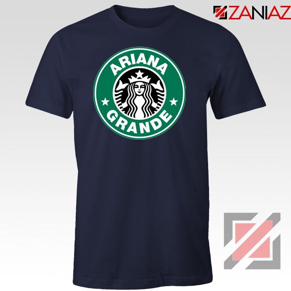 Ariana Grande Singer Navy Blue Tshirt