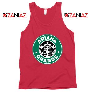 Ariana Grande Singer Red Tank Top