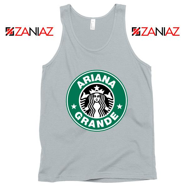 Ariana Grande Singer Sport Grey Tank Top