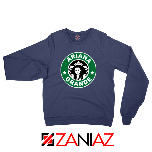 Ariana Grande Starbucks Parody Navy Blue Sweater