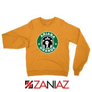 Ariana Grande Starbucks Parody Orange Sweater