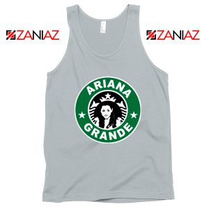 Ariana Grande Starbucks Parody Sport Grey Tank Top