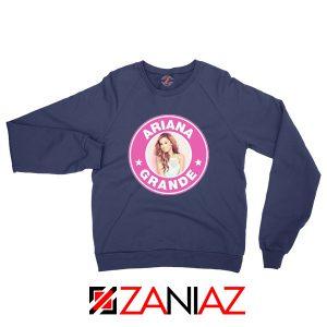 Ariana Grande Starbucks Pink Navy Blue Sweatshirt
