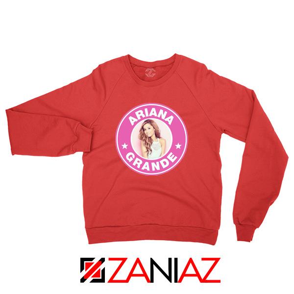 Ariana Grande Starbucks Pink Red Sweatshirt