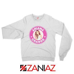 Ariana Grande Starbucks Pink White Sweatshirt