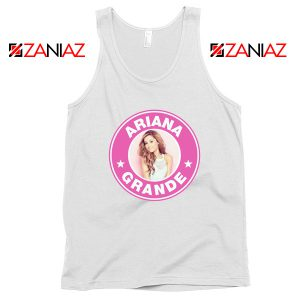 Ariana Grande Starbucks Pink White Tank Top