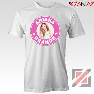 Ariana Grande Starbucks Pink White Tshirt