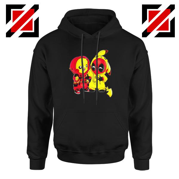 Baby Pikachu And Deadpool Black Hoodie
