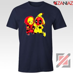 Baby Pikachu And Deadpool Navy Blue Tshirt