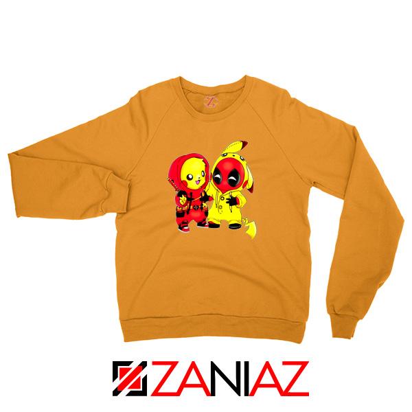 Baby Pikachu And Deadpool Orange Sweater