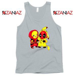 Baby Pikachu And Deadpool Sport Grey Tank Top