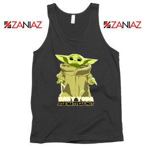 Baby Yoda Size Matters Not Black Tank Top