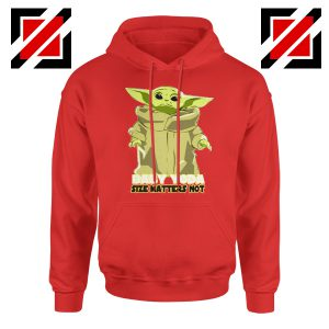 Baby Yoda Size Matters Not Red Hoodie