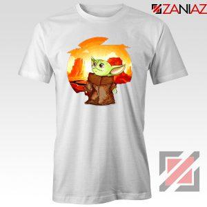 Baby Yoda Yiddle White Tshirt