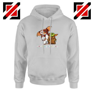 Baby Yoda and Gremlins Sport Grey Hoodie