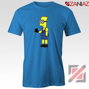 Bart Minion Simpson Blue Tshirt