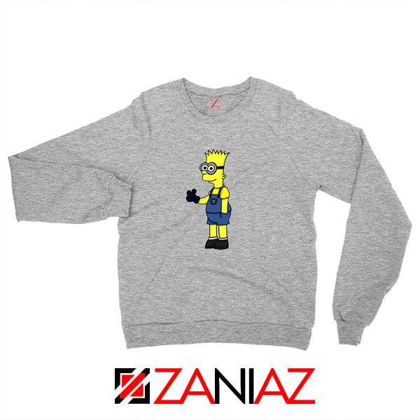 Bart Minion Simpson Grey Sweater