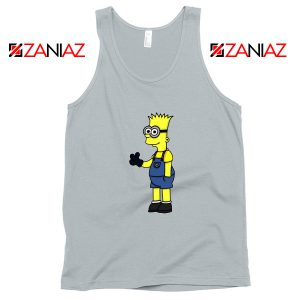 Bart Minion Simpson Grey Tank Top