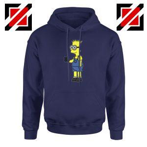 Bart Minion Simpson Navy Hoodie