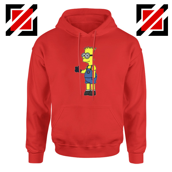 Bart Minion Simpson Red Hoodie