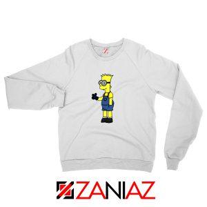 Bart Minion Simpson White Sweater