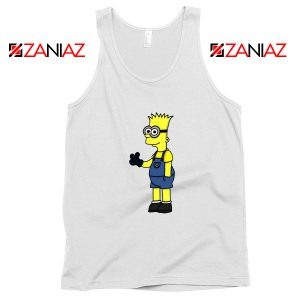 Bart Minion Simpson White Tank Top