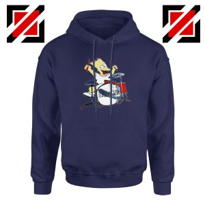Bart Plays The Drums Navy Hoodie