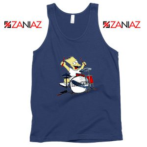 Bart Plays The Drums Navy Tank Top