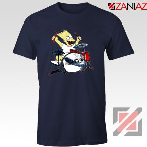 Bart Plays The Drums Navy Tshirt