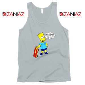 Bart Simpson Character Grey Tank Top