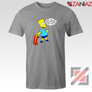 Bart Simpson Character Grey Tshirt