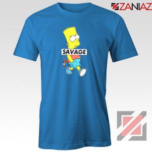 Bart Simpson Savage Blue Tshirt