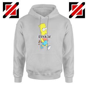 Bart Simpson Savage Grey Hoodie