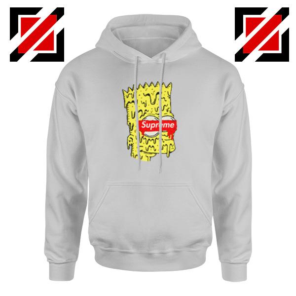 Bart Simpson Supreme Parody Grey Hoodie
