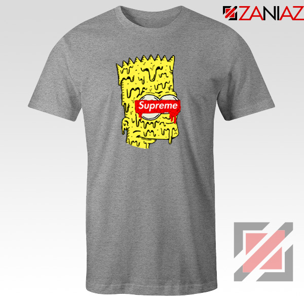 Bart Simpson Supreme Parody Grey Tshirt