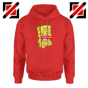 Bart Simpson Supreme Parody Red Hoodie