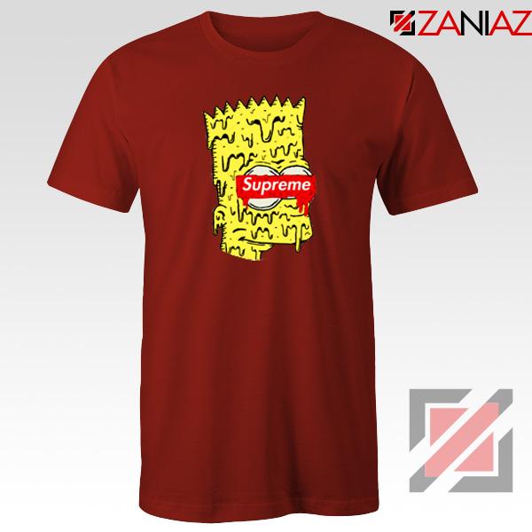 Bart Simpson Supreme Parody Red Tshirt