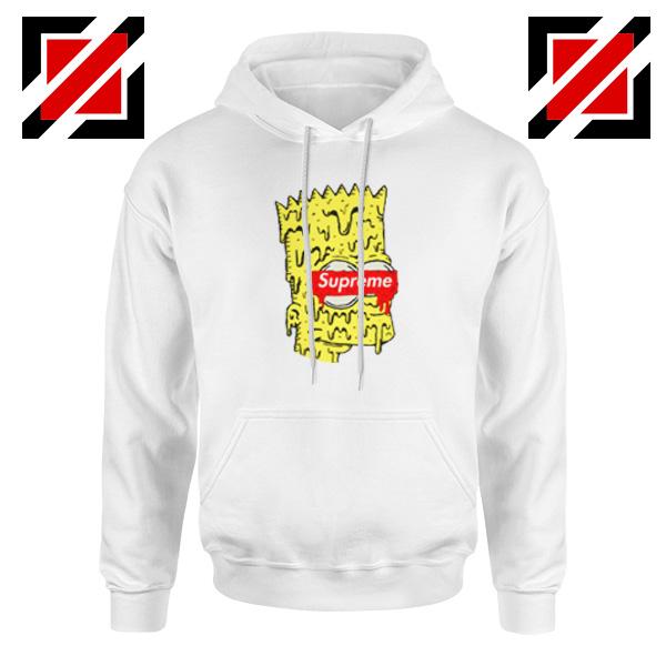 Bart Simpson Supreme Parody White Hoodie