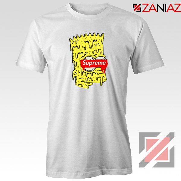 Bart Simpson Supreme Parody White Tshirt