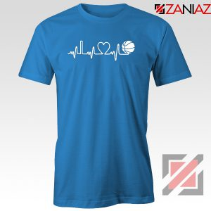Basketball Heartbeat Blue Tshirt
