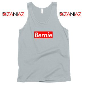 Bernie Supreme Parody Grey Tank Top