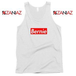 Bernie Supreme Parody White Tank Top