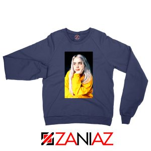 Billie Eilish 90s Vintage Navy Blue Sweatshirt