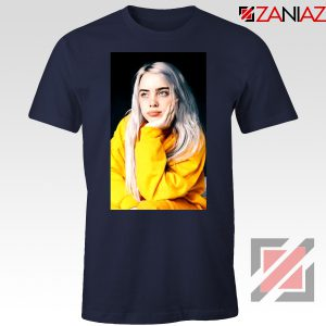 Billie Eilish 90s Vintage Navy Blue Tshirt