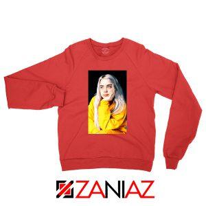 Billie Eilish 90s Vintage Red Sweatshirt