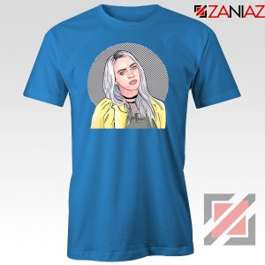Billie Eilish Art Blue Tshirt