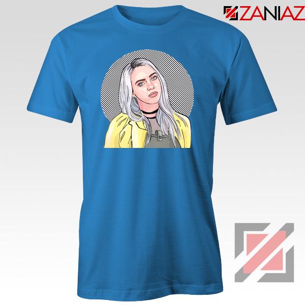 Billie Eilish Art Blue Tshirt