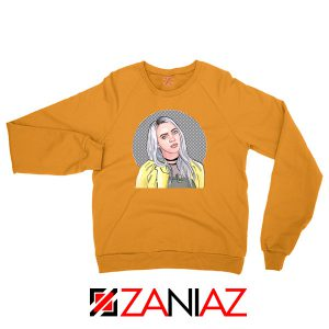 Billie Eilish Art Orange Sweatshirt